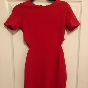Coral red dress